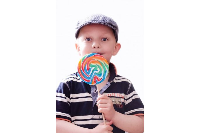 Niño golosina diabetes
